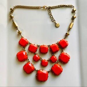 XL Orange Stella & Dot Statement Necklace